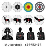 targets for shooting with... | Shutterstock .eps vector #699953497