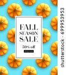 design banner autumn sale. fall ... | Shutterstock .eps vector #699953953