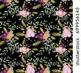 small flowers seamless pattern. ...   Shutterstock .eps vector #699956143