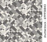 modern stylish halftone texture.... | Shutterstock .eps vector #699958843