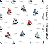 marine seamless pattern with... | Shutterstock .eps vector #699962473