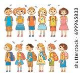 vector set of illustrations... | Shutterstock .eps vector #699965833