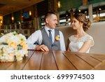 luxury stylish wedding. wedding ... | Shutterstock . vector #699974503