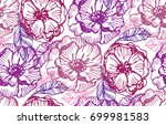vintage floral seamless pattern ... | Shutterstock .eps vector #699981583