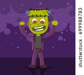 halloween kids costume of... | Shutterstock .eps vector #699988783