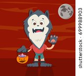 halloween kids costume of... | Shutterstock .eps vector #699988903