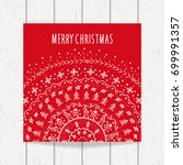 christmas and new year greeting ... | Shutterstock .eps vector #699991357