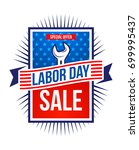 labor day sale banner.happy usa ... | Shutterstock .eps vector #699995437