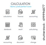 calculation theme  line icon... | Shutterstock .eps vector #699996877