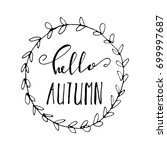 hello autumn background with... | Shutterstock .eps vector #699997687
