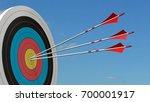 target with arrows   target... | Shutterstock . vector #700001917