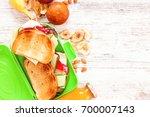 school lunch box. school...   Shutterstock . vector #700007143