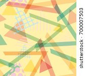 seamless pattern geometric... | Shutterstock .eps vector #700007503