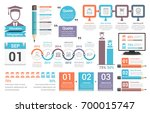 education infographics design... | Shutterstock .eps vector #700015747