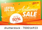 autumn sale template banner ... | Shutterstock .eps vector #700016923