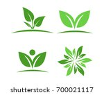 logos of green leaf ecology... | Shutterstock .eps vector #700021117