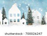 christmas background | Shutterstock . vector #700026247
