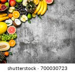 variety of fresh fruits. on... | Shutterstock . vector #700030723