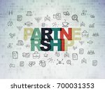 finance concept  painted... | Shutterstock . vector #700031353