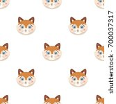 fox muzzle icon in cartoon... | Shutterstock . vector #700037317