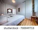 komiza  vis   croatia   aug 15  ... | Shutterstock . vector #700049713