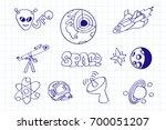 hand drawn doodles cartoon set... | Shutterstock .eps vector #700051207