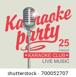 vector banner for karaoke club... | Shutterstock .eps vector #700052707