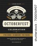oktoberfest beer festival...   Shutterstock .eps vector #700056907
