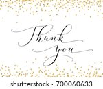 thank you words  hand written... | Shutterstock .eps vector #700060633