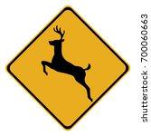 deer warning sign isolated on... | Shutterstock .eps vector #700060663