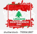 lebanon independence day... | Shutterstock .eps vector #700061887