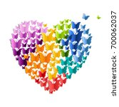 heart with butterfly | Shutterstock . vector #700062037