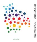 dotted texture bolivia vector... | Shutterstock .eps vector #700065163