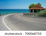 sharp turn of the road with a...   Shutterstock . vector #700068733