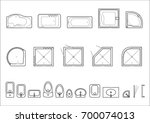 set of icons for architectural... | Shutterstock .eps vector #700074013