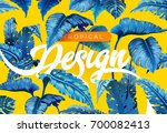 bright tropical background with ... | Shutterstock .eps vector #700082413