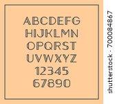 sans serif font with elegant...   Shutterstock .eps vector #700084867