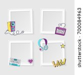 realistic photo frames for... | Shutterstock .eps vector #700084963