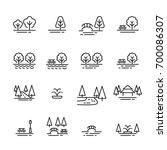 park line icon   Shutterstock .eps vector #700086307