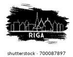 riga latvia skyline silhouette. ...   Shutterstock .eps vector #700087897