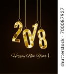 happy new year and merry... | Shutterstock .eps vector #700087927