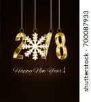 happy new year and merry... | Shutterstock .eps vector #700087933