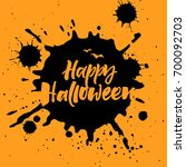 happy halloween greeting card | Shutterstock .eps vector #700092703