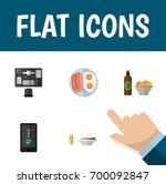 flat icon lifestyle set of... | Shutterstock .eps vector #700092847