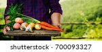 organic vegetables. healthy... | Shutterstock . vector #700093327