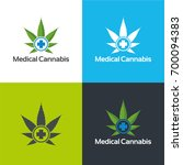 medical cannabis   vector... | Shutterstock .eps vector #700094383