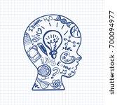 education doodle style symbols... | Shutterstock .eps vector #700094977