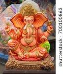 indian hindu god lord ganesha... | Shutterstock . vector #700100863