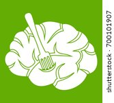 fork is inserted into the brain ... | Shutterstock .eps vector #700101907