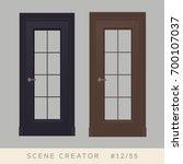 door set. isolated objects.... | Shutterstock .eps vector #700107037